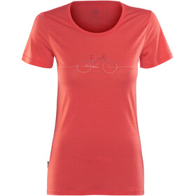 Icebreaker Tech Lite Cadence - T-shirt manches courtes Femme - rouge